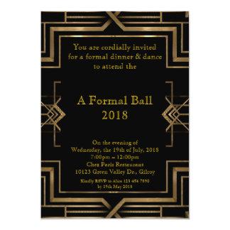 Estilo formal do baile de formatura, grande convite 12.7 x 17.78cm