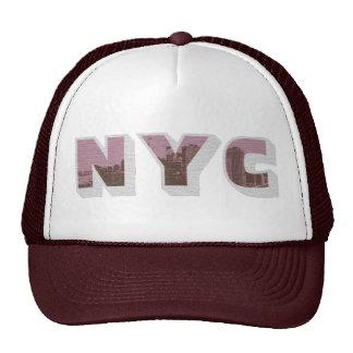 Estilo grande do gráfico da foto do vintage de NYC Boné