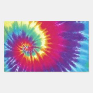 Estilo Groovy do Hippie da tintura do laço Adesivo Retangular