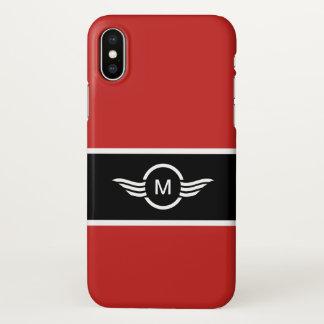 Estilo moderno do monograma dos homens capa para iPhone x