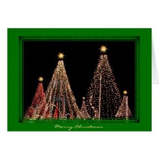 Estilo musical da árvore do Feliz Natal Cartao