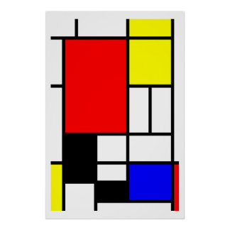Estilo Neo-plasticism de Mondrian Pôster