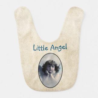 Estilo pequeno do vintage do anjo babadores para bebes