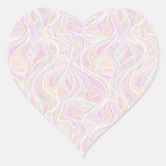Estilo psicadélico Pastel do vitral Adesivo Coração