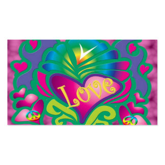 Estilo retro da paz e do amor cartão de visita