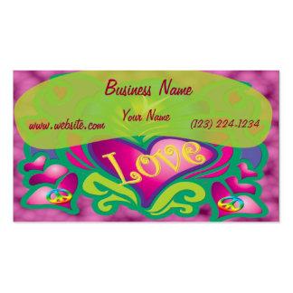 Estilo retro da paz e do amor modelo cartões de visitas