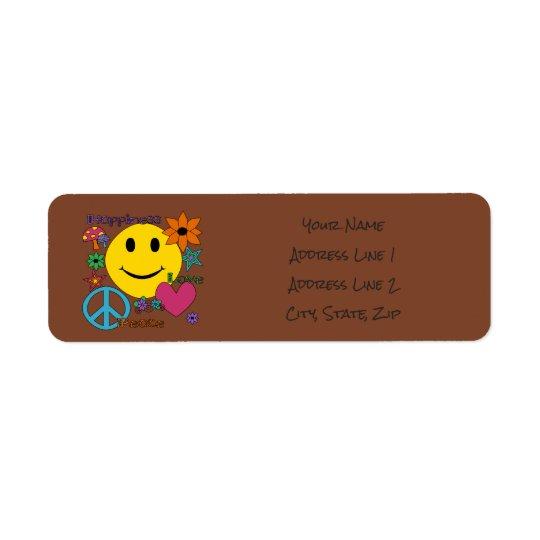 Estilo retro - personalize etiqueta endereço de retorno