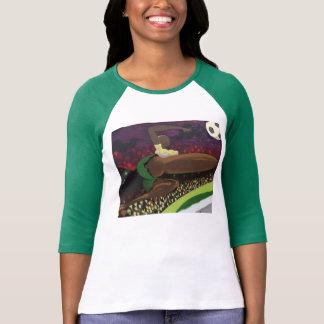 Estilo: Senhoras 3/4 de Raglan da luva (cabido) Camiseta