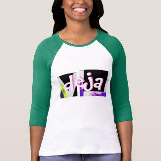 Estilo: Senhoras 3/4 de Raglan da luva (cabido) Camisetas
