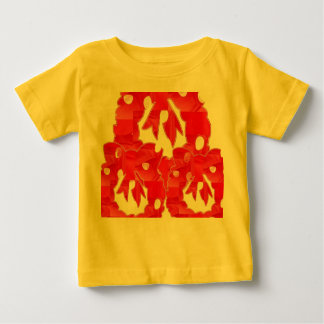 Estilo: T-shirt fino do jérsei do bebê