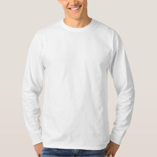 Estilo: T-shirt longo básico da luva dos homens Camiseta