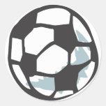 Estilo tirado da bola de futebol à disposição adesivos em formato redondos