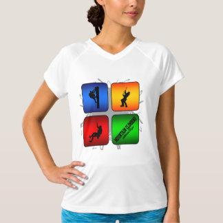 Estilo urbano do alpinismo surpreendente camiseta