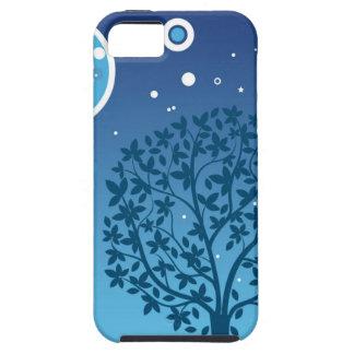 Estilos coloridos do design da árvore e do céu capa tough para iPhone 5
