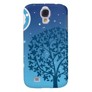 Estilos coloridos do design da árvore e do céu noc galaxy s4 case