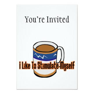 Estimulação do café convite 12.7 x 17.78cm