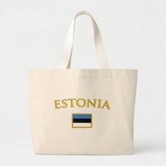 Estónia dourada bolsa tote grande