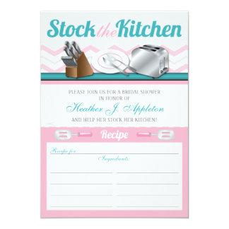 Estoque da receita os chás de panela da cozinha convite 12.7 x 17.78cm