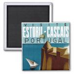 Estoril - Cascais Portugal Ímã Quadrado