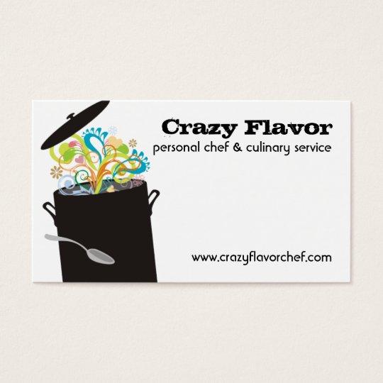 Estourando os aromas que cozinham cartões de