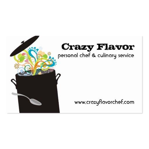 Estourando os aromas que cozinham cartões de cartão de visita
