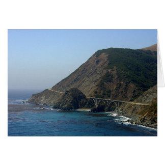 Estrada 1 Califórnia Cartão Comemorativo