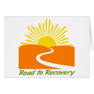 Estrada à engrenagem da recuperação cartão comemorativo