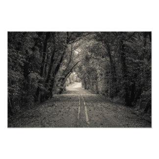 Estrada da capela impressão de foto