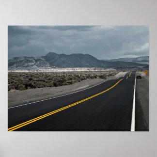 Estrada da estrada - cristas de onda Califórnia Pôster