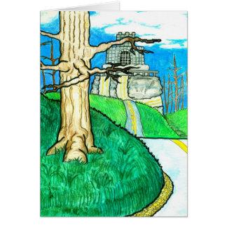 Estrada de enrolamento cartão comemorativo