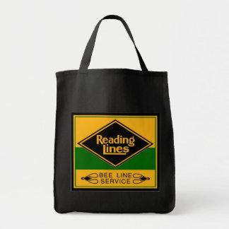 Estrada de ferro da leitura linha serviço da abel bolsas para compras