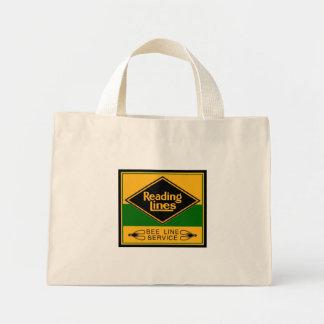 Estrada de ferro da leitura, linha serviço da sacola tote mini