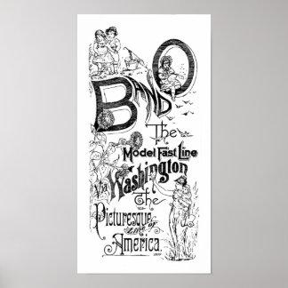 Estrada de ferro de B&O - a linha rápida modelo 18 Poster
