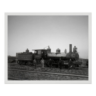 Estrada de ferro de Baltimore & de Ohio (motor 932 Pôsteres