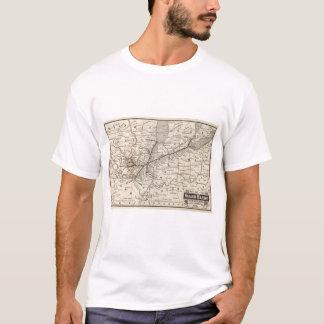 Estrada de ferro de Wabash do mapa Camiseta