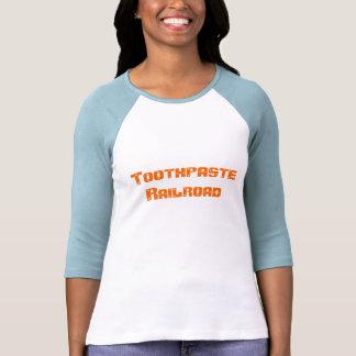 Estrada de ferro do dentífrico camiseta