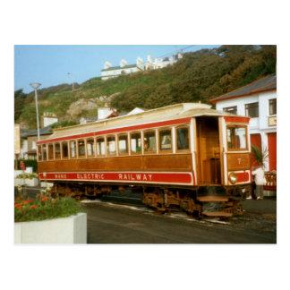 Estrada de ferro elétrica Manx, ilha do homem Cartões Postais