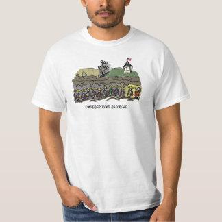 Estrada de ferro subterrânea camiseta