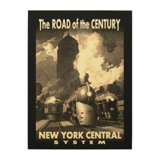 Estrada de NYC do século Tela De Madeira
