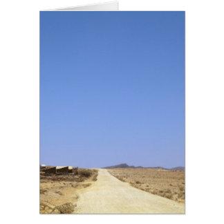 Estrada do deserto cartão comemorativo