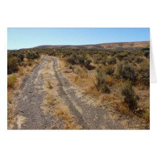 Estrada do deserto de Nevada Cartão Comemorativo