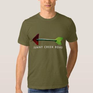Estrada ensolarada da angra - camisa da seta t-shirts