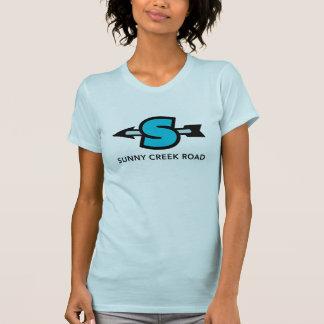 Estrada ensolarada da angra - camisa do logotipo camisetas