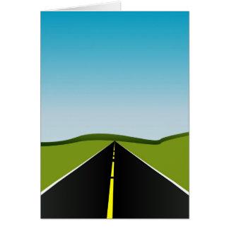 estrada longa cartão comemorativo