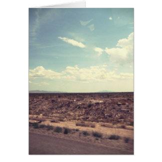 Estrada ocidental cartão comemorativo