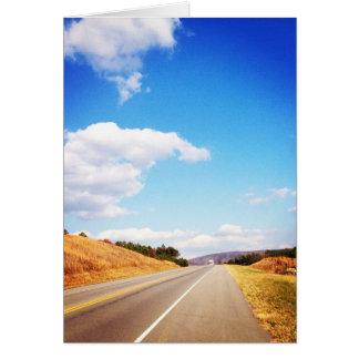 Estrada secundária cartão comemorativo