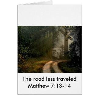 Estrada transversal cartão comemorativo