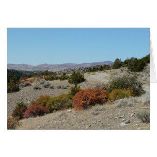 Estrada traseira de Montana Cartão Comemorativo