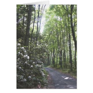 estrada velha NJ da mina Cartão Comemorativo
