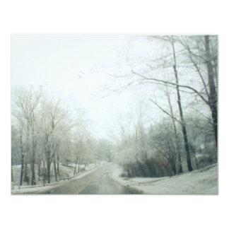 Estradas congeladas convite 10.79 x 13.97cm